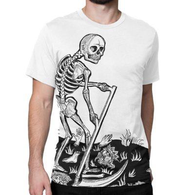 Death Tarot Card Large Print T-Shirt
