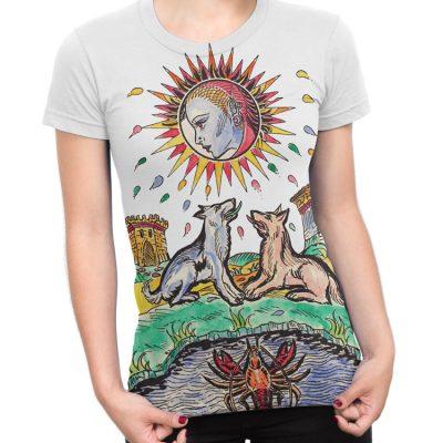 The Moon Tarot Card Large Print T-Shirt