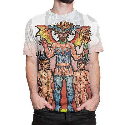 The Devil Tarot Card Large Print Unisex T-Shirt