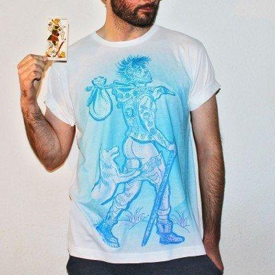 The Fool Tarot Card Large Print Unisex T-Shirt
