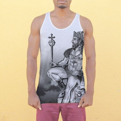The Emperor Tarot Card Black And White Tank Top