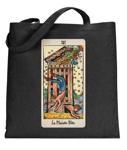 The House of God/Tower Tarot Card Tote Bag