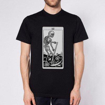 Death Tarot Card Black & White T-Shirt