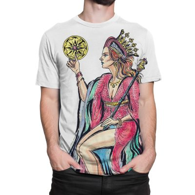 The Queen of Pentacles Tarot Card Large Print T-Shirt