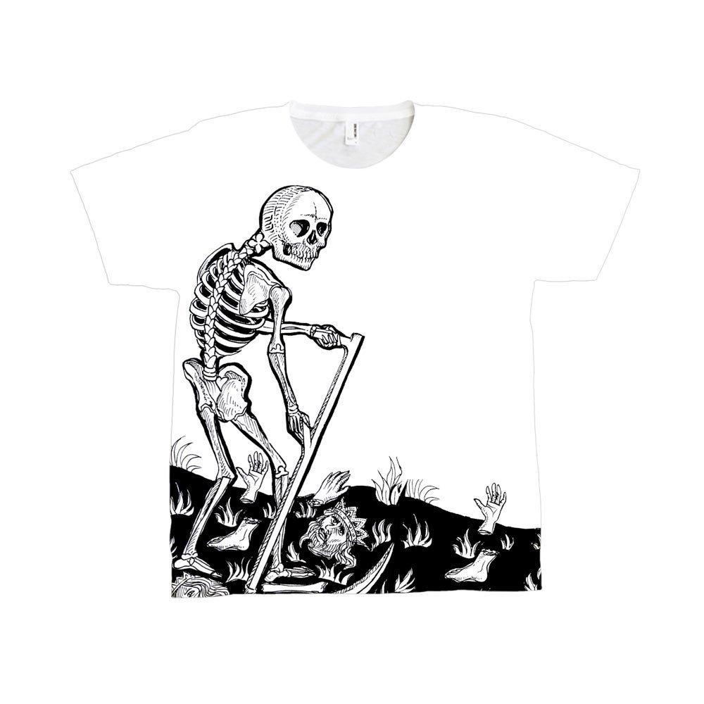 247394002dd1 Death Tarot Card Large Print T-Shirt - Tarot T-Shirts