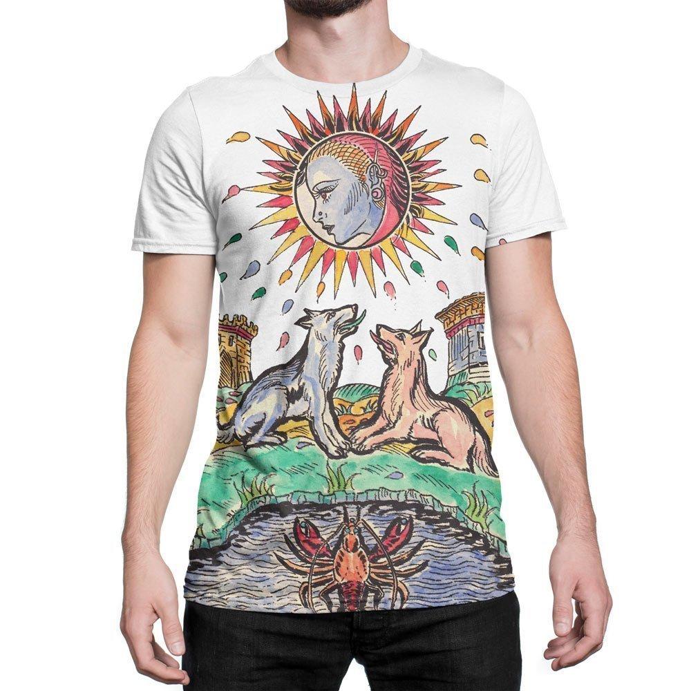 The moon tarot card large print t shirt tarot t shirts for Who prints t shirts