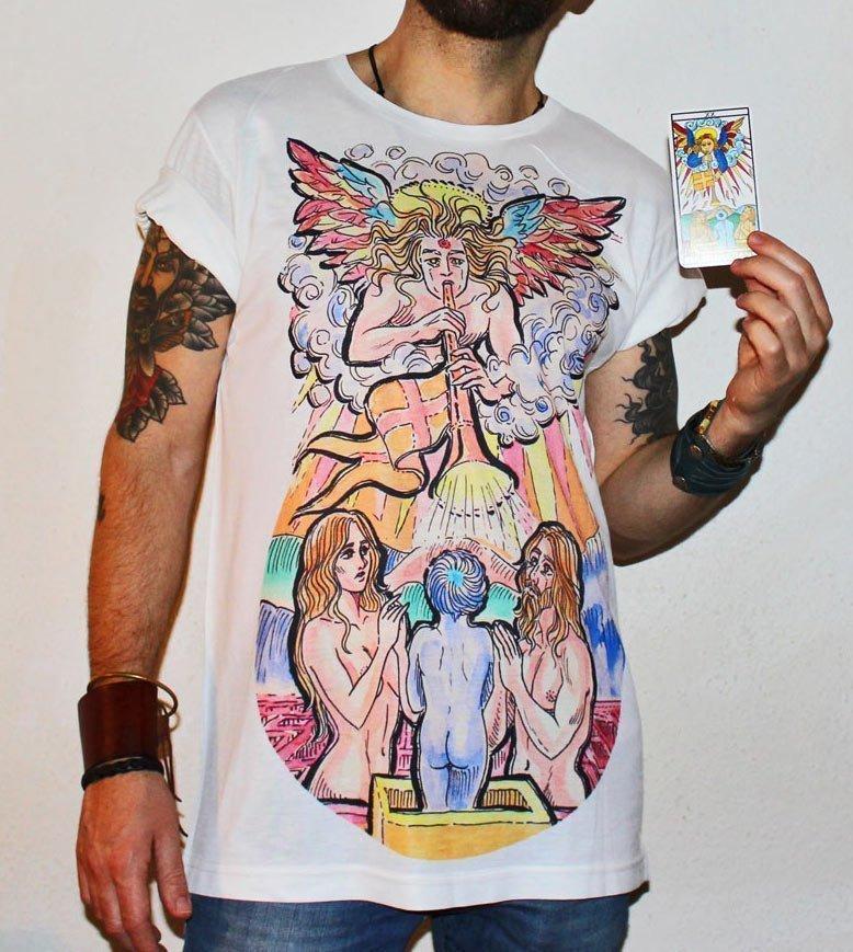 Judgement Tarot Card Large Print Unisex T-Shirt
