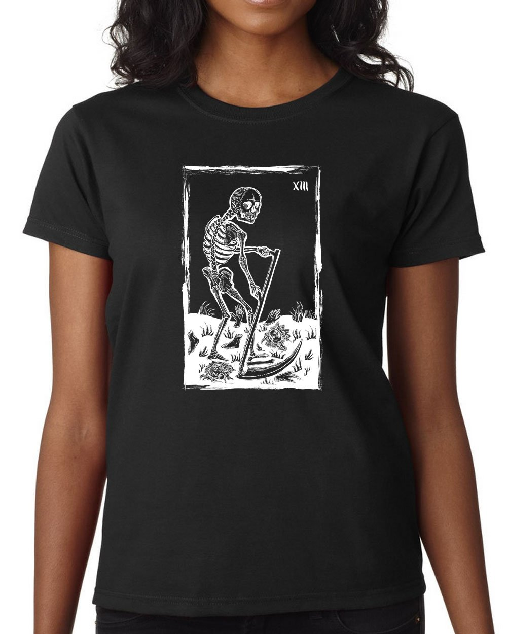 Death Tarot Card Ladies 39 Ultra Cotton T Shirt Tarot T Shirts